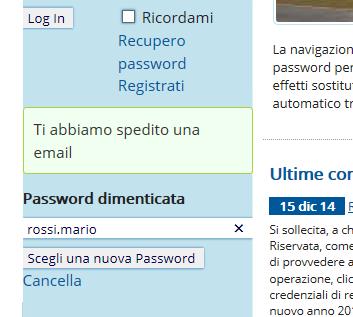 Spedizione password