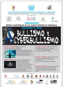 Locandina incontri su bullismo e cyberbullismo - Romano di Lombardia